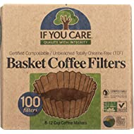 If You Care Coffee Filter Baskets ( 1x100 CT ), Fits 8-12 Cup Drip Coffee Makers