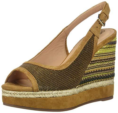 Geox - Zapatillas de Deporte de Otra Piel Mujer, Marrón (marrón), 41 EU