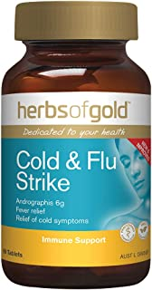 Herbs of Gold Cold and Flu Strike 60 Tablets, 60 count