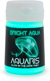 SpaceBeams Glow in The Dark Paint, Aquaris 0.68 fl oz (20ml), Bright Aqua Color (Light..