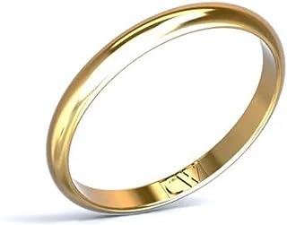 Cristina Wish Alianza de Boda Oro Amarillo 18 Quilates Rhea para Mujer y Hombre 2,5-1,3 mm, Alianzas Pareja Disponible en ...