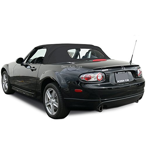 Sierra Auto Tops Convertible Soft Top Replacement, compatible with Mazda Miata MX5 2006-2015, w/Heated Glass Window, Stayfast Cloth, Black