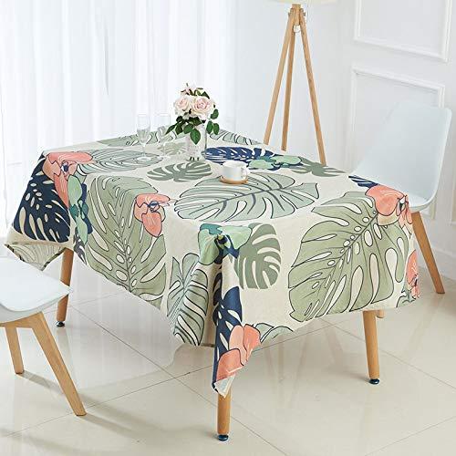 Nappe de Plante Tropicale Nappe Motif Feuille de bananier Lin comptoir Manteau Couverture Nappe Couverture