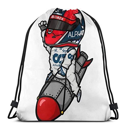 Daniil Kvyat Mini Drawstring Bag Sports Fitness Bag Travel Bag Gift Bag