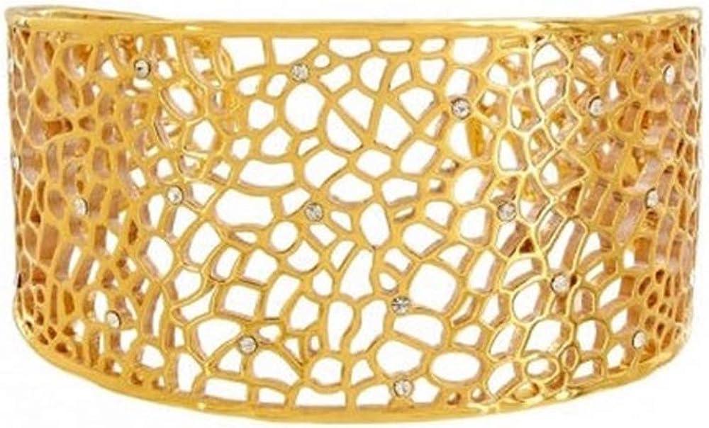 Brighton Fiji Gold Cute Out Wide Cuff Bracelet