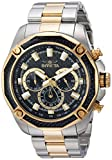 Invicta Men's Aviator Quartz Watch with Stainless-Steel Strap, Two Tone, 24 (Model: 22806)