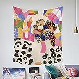NHhuai Tapiz para Colgar en la Pared, Tapestry, Toalla de Playa Colorida Impresa del Tapiz de la ilustración