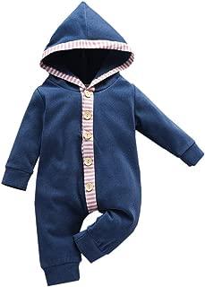 Weilov Christmas Snow Romper Infant Newborn Baby Girls Boys Cotton Blend Xmas Print Long Sleeve Bodysuit Clothes for Festival Cheering