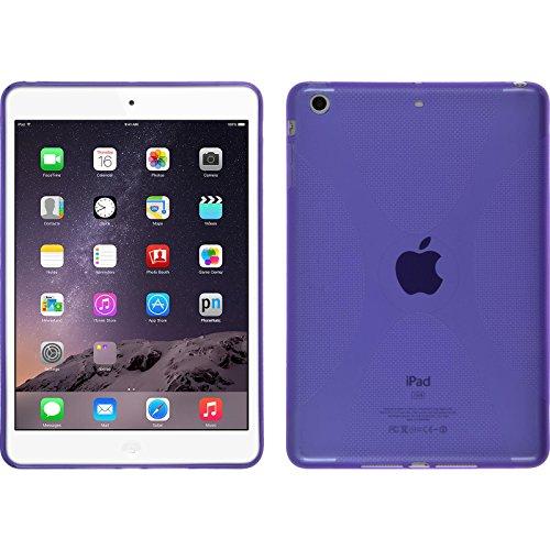 PhoneNatic Custodia Compatibile con Apple iPad Mini 3 2 1 Cover Porpora X-Style iPad Mini 3 2 1 in Silicone + Pellicola Protettiva