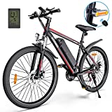 Electric Bike,Googo 26' Electric Mountain Bike with 350W Motor,Removable 36V Battery,Professional 21 Speed Gears,Middle 5 Speed LCD Display with USB,3 Working Modes,20MPH Electric Bike for Adults