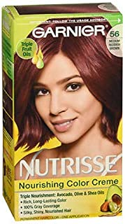 Garnier Nutrisse Nourishing Color Creme, 56 Medium Reddish Brown 1 ea (Pack of 3)