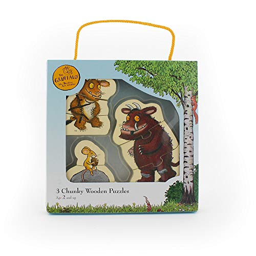 Milly & Flynn The Gruffalo 9 Piece Chunky Wooden Jigsaw Puzzle Set With Carry Case - Suitable For Ages 2+