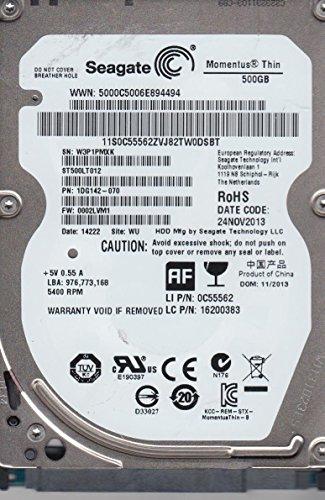 ST500LT012, W3P, WU, PN 1DG142-070, FW 0002LVM1, Seagate 500GB SATA 2.5 Festplatte