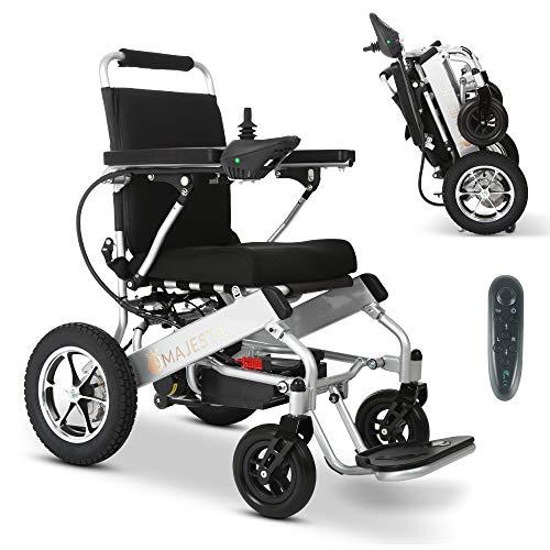 "2021 Long Range Lightweight Electric Wheelchair - Remote Control Electric Wheelchairs Lightweight Foldable Motorize Power Electrics Wheel Chair Mobility Aid (17.5"" Seat Width)"