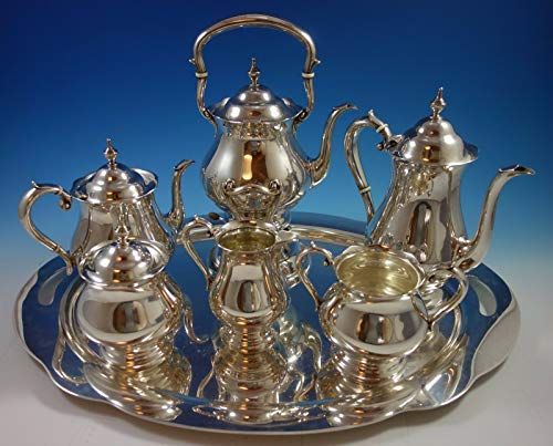 Why Choose Old French by Gorham Sterling Silver Tea Set 6pc with Tray (#1639) Exceptional!