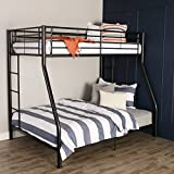 Walker Edison Dunning Urban Industrial Twin over Double Metal Bunk Bed, Twin over Double, Black
