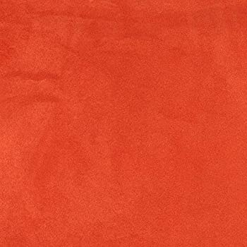 Orange Microsuede Suede Upholstery Fabric by The Yard 58  Sold by The Yard