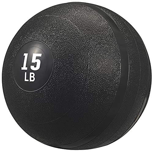 PITHAGE Exercise Slam Medicine Ball - Gym Equipment Accessories for High Intensity Exercise, Cardio, Strength & Conditioning Exercises (15lb)