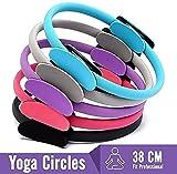 Anillo DE Yoga DE Doble ASA - Ejercite el Equipo de Resistencia al Ejercicio del círculo de Fitness para Quemar Grasa para tonificar y Esculpir la Parte Interna y Externa de los Muslos: mejore f-D