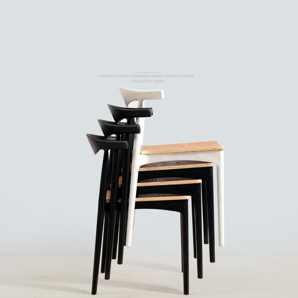 SLL- Chaise d'étude de Maison Moderne Minimaliste à la Maison de Dos de Chaise Chinoise Moderne (Color : A) B
