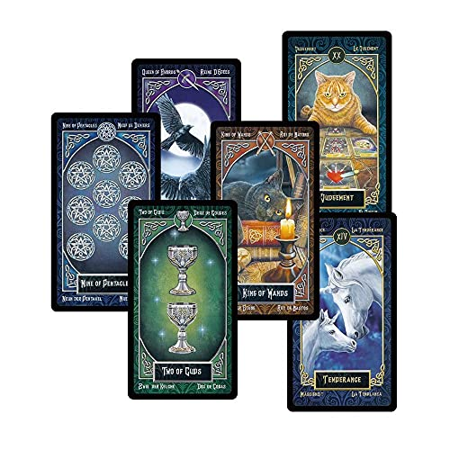 UJETML Tarjetas de Tarot ORRACOLEST Deck Misterioso Divinación Rider Tarot Deck for Women Girls Cards Game, Juego de Mesa (Color : Intimate Tarot)