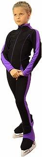 IceDress Figure Skating Outfit -Bracket (Black with Violet Line)