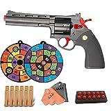 KFGJ Shell Ejection Soft Bullet Toy Gun, Revolver Juguete Metal, Pistola Cowboy, Tamaño 1: 1, RevóLver con Un CañóN Corto, Halloween Detective Juego de Roles Accesorios 357