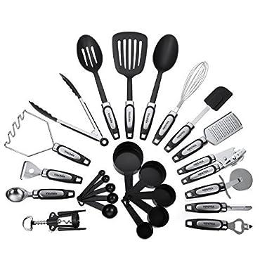 25-Piece Kitchen Tool & Utensil Set, Cooking Gadgets, Stainless Steel & Nylon
