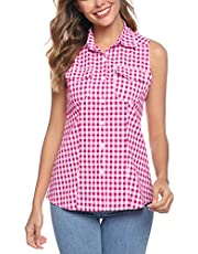 Abollria Womens Casual lange mouw vriend geruite knop omlaag Flanel Check Shirt Blouse Tops