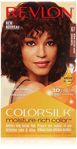 Revlon Colorsilk Moisture Rich Hair Color, Medium Chestnut Brown No. 67, 1 Count