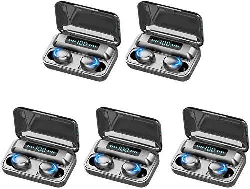 KEEBON 10pc Mini Bluetooth 5.0 Auricular inalámbrico LED Auriculares Auriculares Auriculares