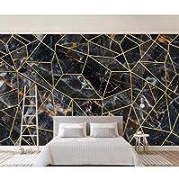 xueshao 北欧の個々のキャラクターの抽象的な幾何学の大理石のテレビの3D設定の壁が壁紙の壁画を飾ります-250X175Cm