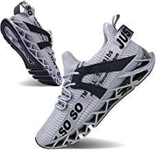 Mens Running Shoes Non Slip Athletic Walking Blade Type Sneakers Grey,US 11