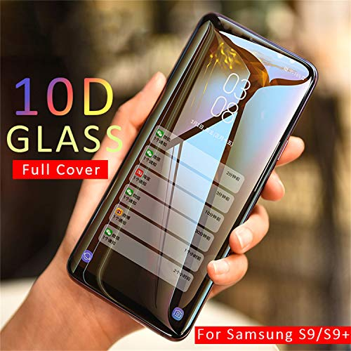 PmseK Protector de Pantalla,Vidrio Templado,10D Full Cover Tempered Glass For Galaxy A7 2108 Note 9 8 Cristal Templado For Galaxy S8 S9 A6 A8 Plus New S7 Edge Film For Galaxy S7 Transparent Glass