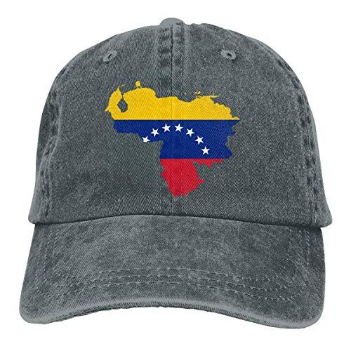 N/A Sombreros Sombrilla Al,Sombrero De Sol,Dad Hat,Ocio Sombrero,Sombrero De Deporte,Venezuela Map Flag Denim Jeanet Gorra De Béisbol Ajustable Dad Hat