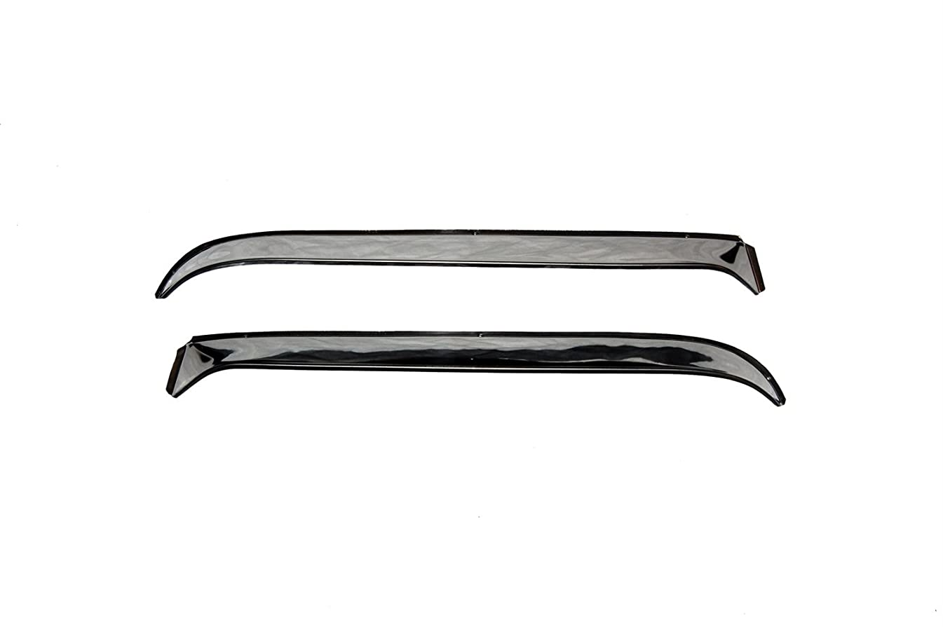 Auto Ventshade 12071 Ventshade with Stainless Steel Finish, 2-Piece Set for 1983-1992 Ford Ranger, 1984-1990 Bronco II
