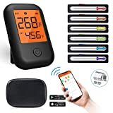 Wireless Meat Thermometer, Bluetooth Meat Thermometer with 6 Probes, Alarm Monitor Digital BBQ