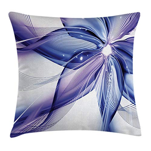 Cushion Cover Geometrical Like Striped Huge Flower Floral Design Work of Art Pillow Cover Bar Party Festival Gift Use Pillow Protector 45*45cm