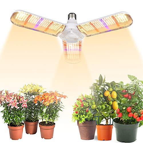 Lampe de Croissance pour Plantes, E27 150W Lampe pour Plante 414 LEDs Lampe Horticole 180° Enluminure Secteur Spectre Complet pour les Plantations en Intérieur