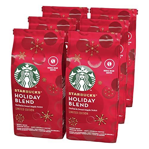 Starbucks Holiday Blend Roast Ganze Kaffeebohnen, Milde Röstung (6 x 190g)