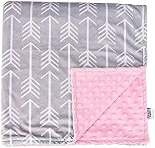 Towin Baby Arrow Minky Double Layer Receiving Blanket, Pink 29x29 …