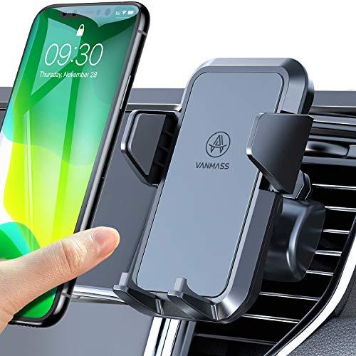 VANMASS Handyhalterung Auto Handyhalter fürs Auto Lüftungs Kfz Handy Halterung 2 Upgrade Lüftungsclips 100{c5dfada5b23feccafb4a0581b1b2bfb4ea53143c5d18c927d8ba7f614b3b03c4} Silikon Schutz Smartphone Halterung Auto 360° Drehbar für iPhone Samsung Huawei Mate LG usw