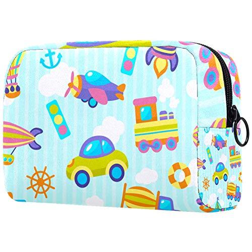 Bolsa de aseo con cremallera, bolsa de maquillaje reutilizable de gran capacidad, bolsa de viaje para cosméticos con juguete de transporte para adolescentes y mujeres