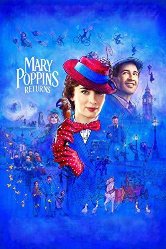 TTXD Puzzle Legno da 1000 Pezzi,Il Ritorno di Mary Poppins,Educativi Intellettuali Decomprimente Giocattolo Divertente Gioco per Famiglie Regalo per Bambini 50 x 70 cm