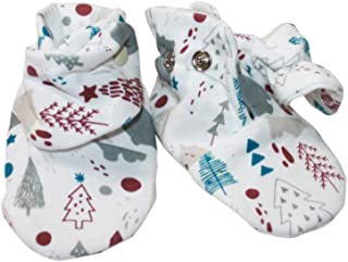 Darlyng & Co.'s Soft Stay On Cotton Newborn Baby Booties- Keeps Feet Warm with Adjustable Nickel Free Button Closure (0-6 Months) for Boy/Girl