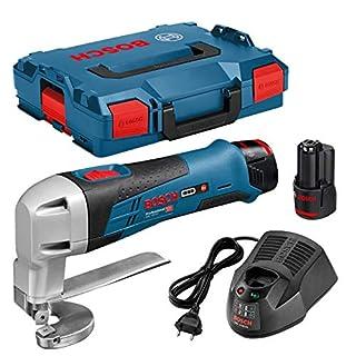 Bosch Professional GSC 12V-13 - Cizalla de metal a batería (12V, 3600 cpm, corte en acero max. 1,3 mm, 2 baterías x 2.0 Ah, en L-BOXX) (B00DSUA6LC) | Amazon price tracker / tracking, Amazon price history charts, Amazon price watches, Amazon price drop alerts