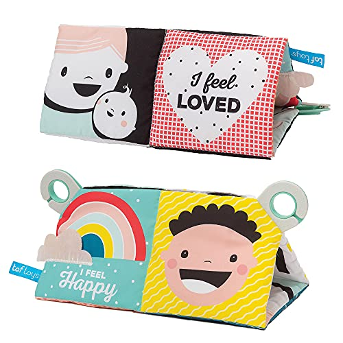 Baby Steps My Feelings Infant Crinkle Baby Book, High-Contrast Black and White Book & Color Newborn Book , Early Education, Tummy Time Toys, Baby Books 0-6 Months, Best Gift for Toddlers, Newborns