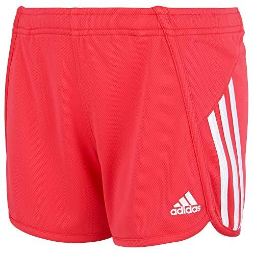 adidas Girls' Big Active Sports Athletic Shorts, Mesh Pink, Small