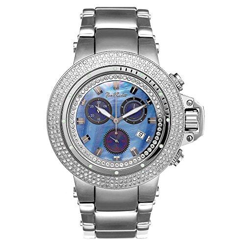 Joe Rodeo Diamant - Reloj de pulsera para hombre (4 ctW), color plateado