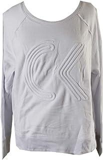 Calvin Klein Women's Icon Corded Logo Crop Pullover